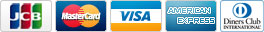 カード決済対応会社: JCB / MasterCard / VISA / American Express